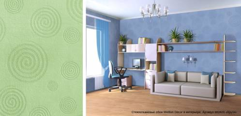 Стеклообои Wellton Decor Круги WD820